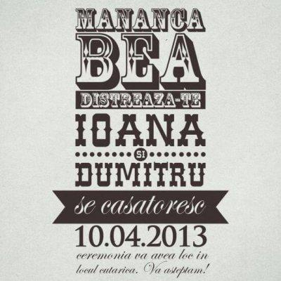 Inkpaperart - Invitatii creative - Mananca Bea