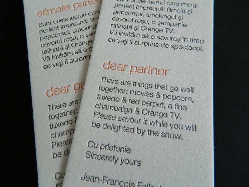 Cartonase multumire Orange