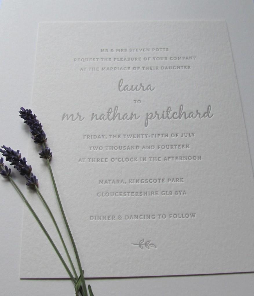 Invitación de boda Laura & Nathan
