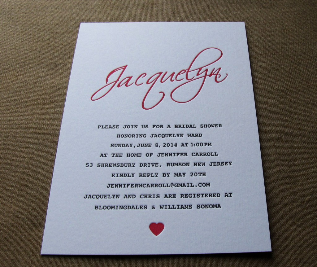Invitación de evento Jacquelyn