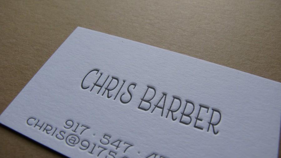 Carti de vizita Chris Barber