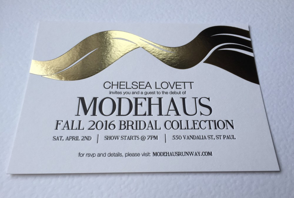 Invitación de evento Chelsea Lovett Modehaus
