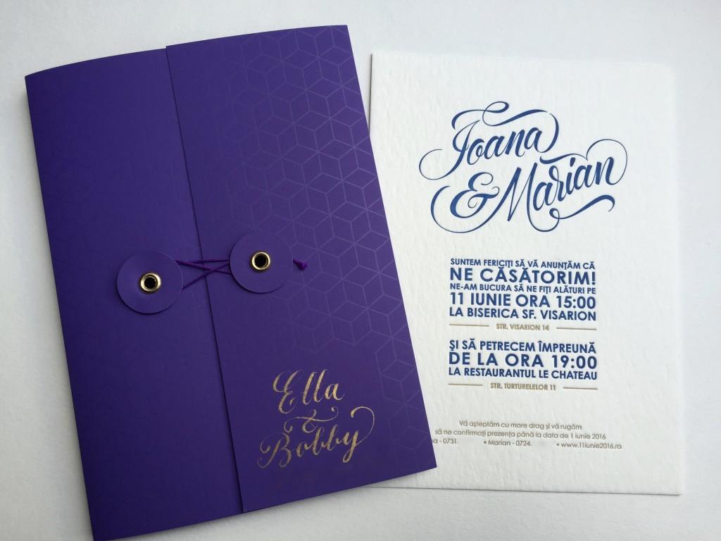 Invitatii nunta Ioana & Marian