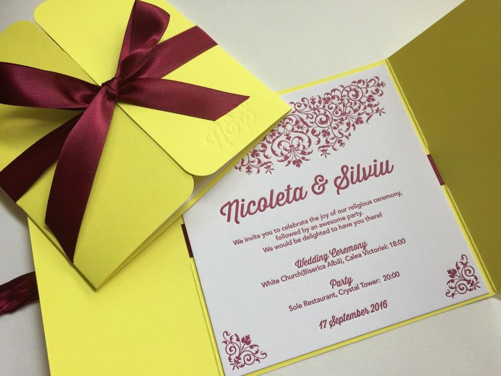 Wedding Invitations Nicoleta& Silviu
