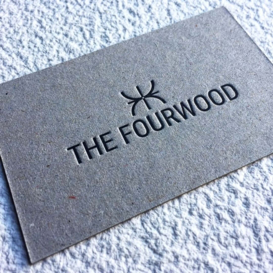 Letterpress Business Cards Fourwood