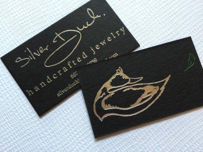 Carti de Vizita - Ink Paper Art - Silver Duck - 1100px - 1