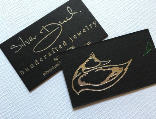 Silver Foil Business Cards Silver Duck