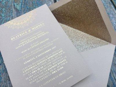 Invitatii Nunta Ink Paper Art Beatrice & Mihnea - 1100px - 1