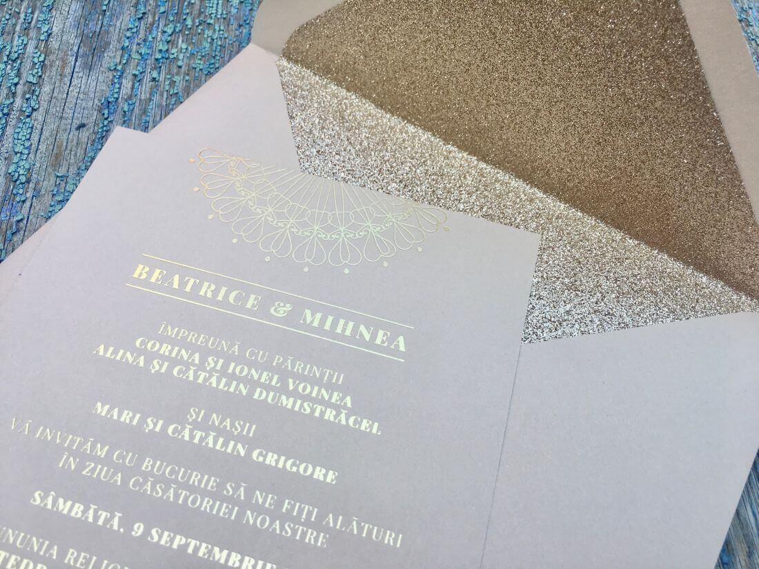 Invitatii Nunta Ink Paper Art Beatrice & Mihnea - 1100px - 2