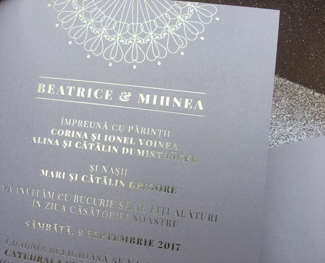 Invitatii Nunta Ink Paper Art Beatrice & Mihnea - 1100px - 3