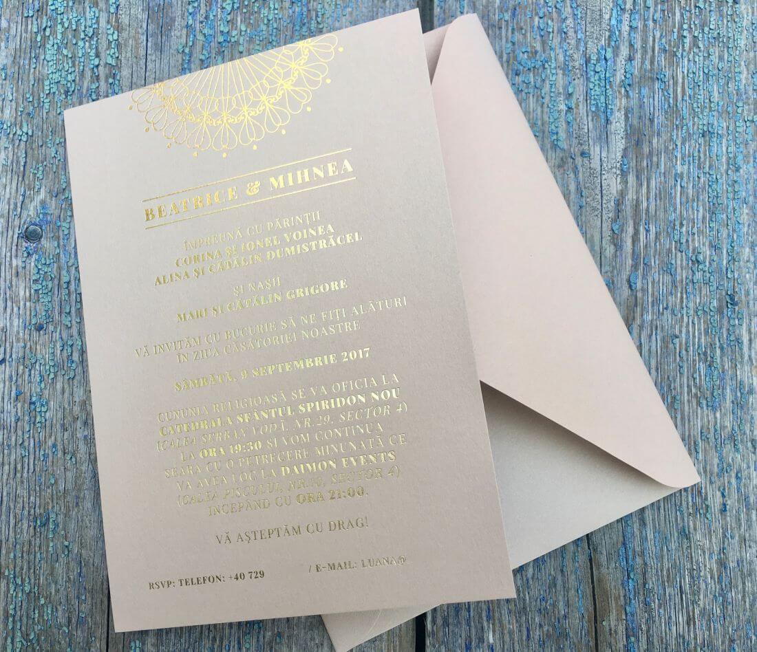 Invitatii Nunta Ink Paper Art Beatrice & Mihnea - 1100px - 4