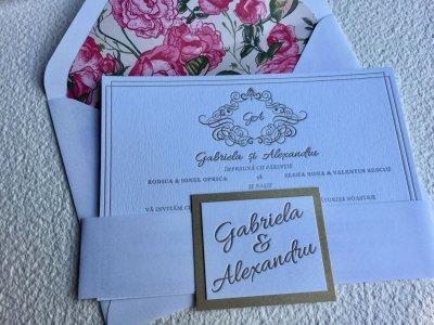 Invitatii Nunta Ink Paper Art Gabriela & Alex - 1100px - 1
