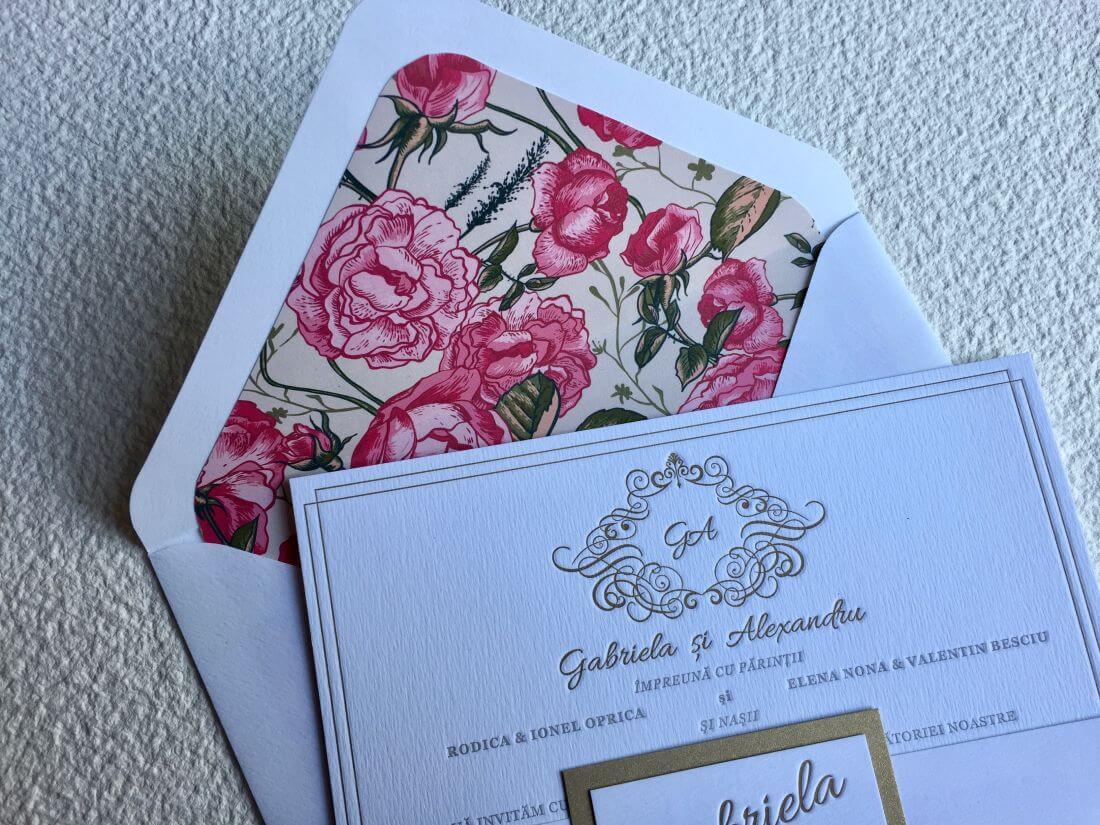 Invitatii Nunta Ink Paper Art Gabriela & Alex - 1100px - 2