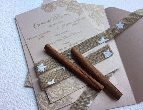 Invitación de boda letterpress Oana & Bogdan