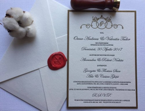 Invitatii Nunta Iza Catalin Ink Paper Art
