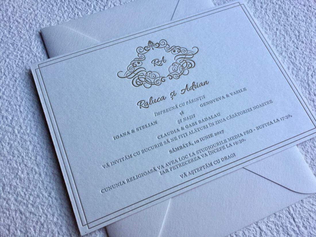 Invitatii Nunta - Ink Paper Art - Raluca & Adrian - 1100px - 1