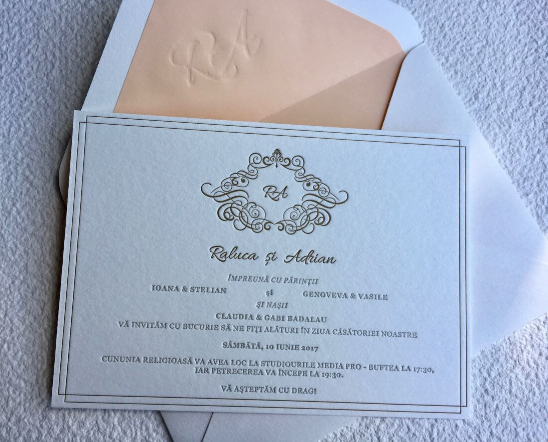 Invitatii Nunta - Ink Paper Art - Raluca & Adrian - 1100px - 2
